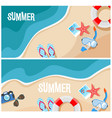 summer beach top view vector image vector image