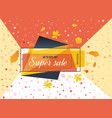 super sale special offer big sale special up to vector image vector image