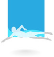 Swimming Logo Design Element vector image