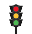 Traffic light flat design isolated vector image vector image