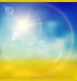 warm lighting summer background vector image vector image