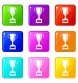 winning gold cup set 9 vector image vector image