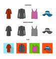 woman and clothing icon vector image