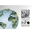 world globe triangular map of the earth vector image vector image