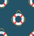 Ahoy Lifebuoy summertime Funny Seamless pat vector image