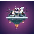 Space party Astronaut in a night club Music vector image