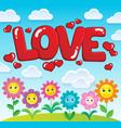 word love theme image 2 vector image