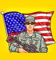 pop art patriotic a male vector image