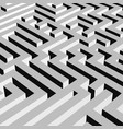 aerial view of grey 3d maze labyrinth vector image