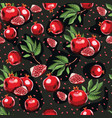 abstract bright colorful pomegranate seamless vector image