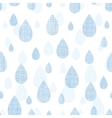 Abstract textile blue rain drops seamless pattern vector image