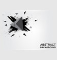 abstract triangle background grunge concept vector image vector image
