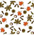autumn pattern vector image vector image