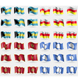 Bahamas North Ossetia Montenegro Antarctica Set of vector image vector image
