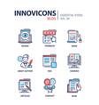 blog - modern line design icons set vector image vector image