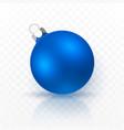 blue christmas ball xmas glass ball vector image vector image