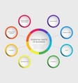 business slide template with circle diagram vector image