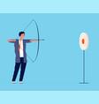 business target businessmen manager investor vector image vector image