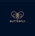 butterfly logo beautiful decorative