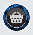 button blue black tartan - shopping basket icon vector image