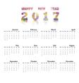calendar2017 vector image vector image