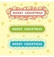 Christmas frame set design vector image vector image