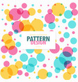 colorful circles dots pattern background vector image vector image