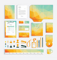 corporate identity design template with yellow vector image vector image