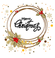 decorative christmas postcard vector image