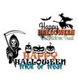 Eeerie Happy Halloween posters vector image