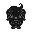 Father icon in black style isolated on white vector image vector image
