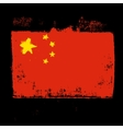 Flag of China on a black background vector image vector image