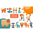 flat zodiac signs composition vector image vector image