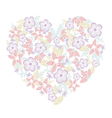 flowers full in heart vector image vector image