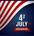 fourth july greeting card template vector image vector image