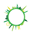 green round cityscape vector image vector image