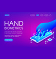 hand biometrics technology vector image vector image