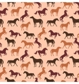 Horse seamless pattern vector image vector image