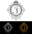 Letter J Luxury Logo template flourishes vector image vector image