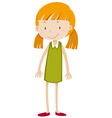 Little girl with pigtail vector image