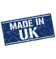 made in uk stamp vector image vector image