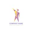 man concept logo design template vector image vector image