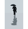 Man walking in the rain vector image