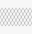 metal fence chain link silver vector image vector image