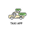 mobile app for ordering taxi simple icon vector image vector image