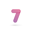 Number 7 logo icon design template elements vector image vector image