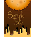 Paper design with cookie and melting chocolate vector image vector image