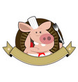 pig palace banner vector image