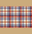 pixel plaid textile tartan seamless pattern vector image vector image