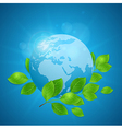 Planet Earth and green branch vector image vector image